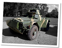Ferret scout car, 1960 onwards, British Army, used extensively by African armies